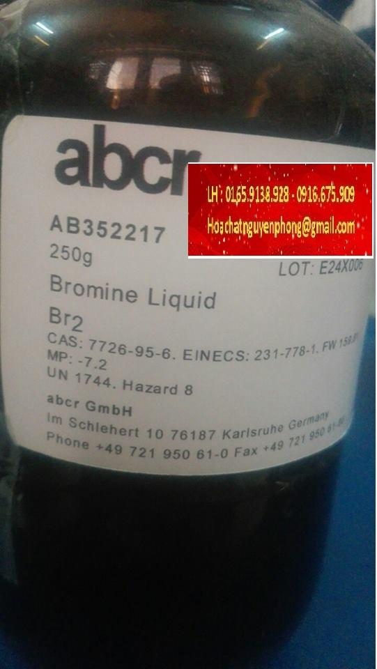 Bromine Liquid , Br2 , ABCR , Germany , Đức , 7726-95-6