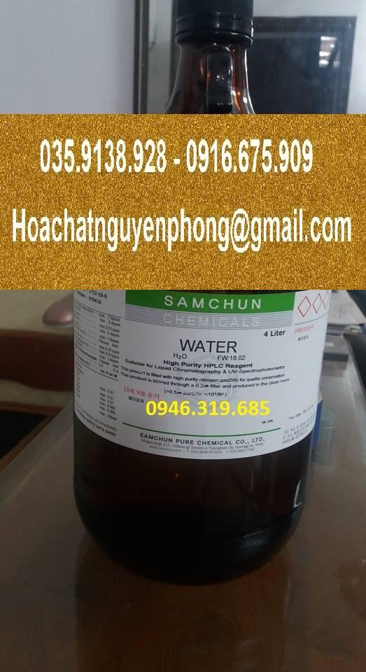 Nước cất HPLC, H2O, Water, Samchun , Hàn Quốc