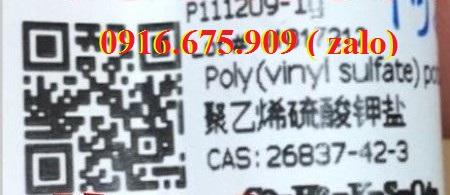 POLY(VINYL SULFATE) POTASSIUM SALT , Muối kali (vinyl sunfat) , C2nH3nKnSnO4n , Aladdin