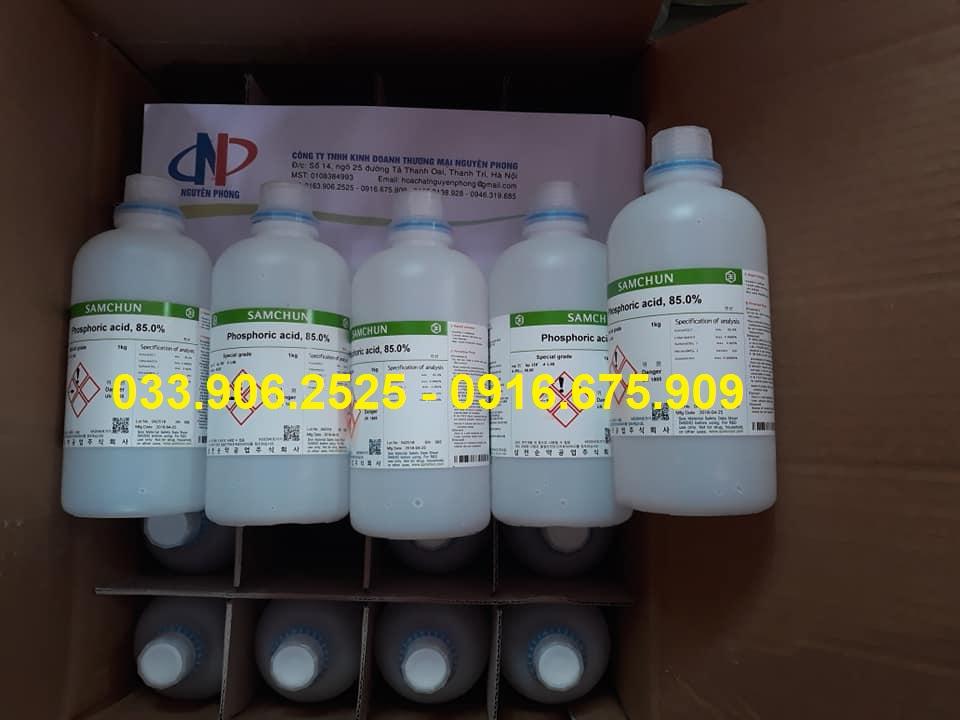 Phosphoric acid , H3PO4 , Samchun , 85%  , HÀN QUỐC