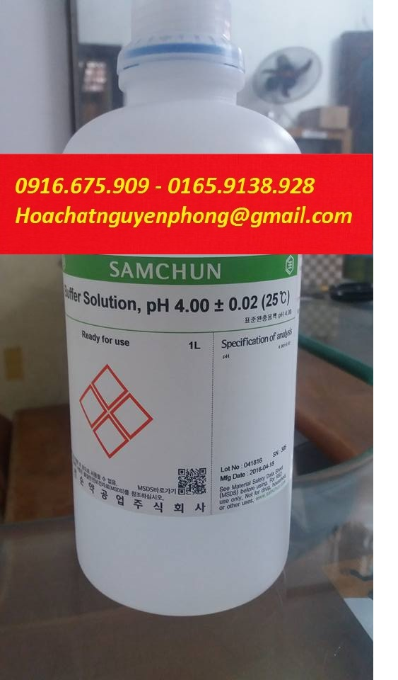 Buffer Solution pH 4.00 , Samchun , Hàn Quốc
