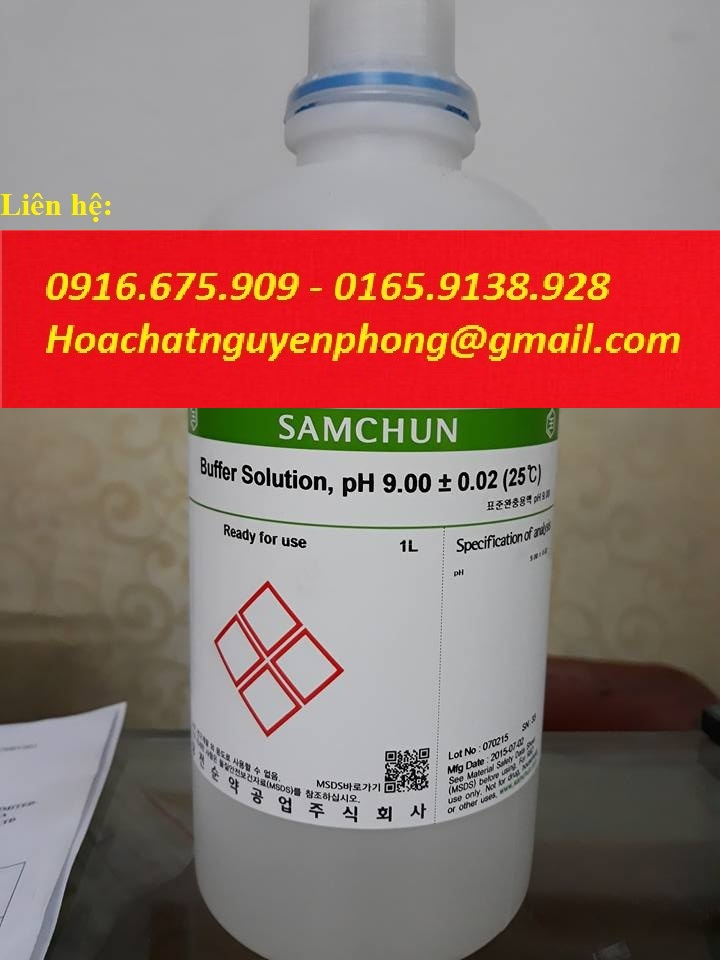 Buffer Solution , pH 9 , Samchun , Korea , Hàn Quốc
