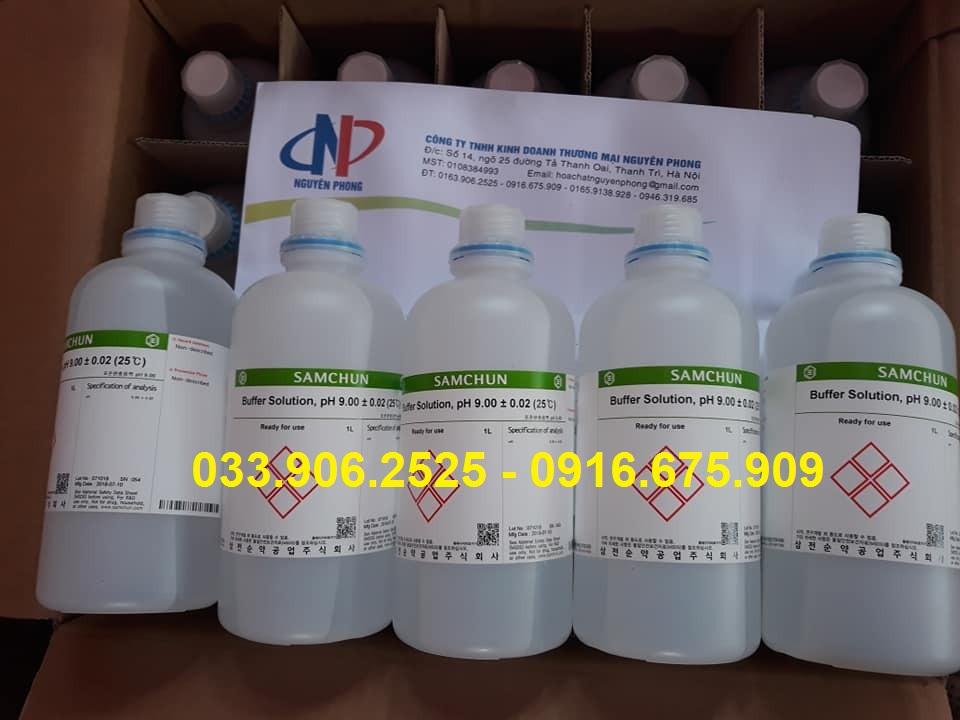 Buffer Solution , pH 9 , Samchun , Korea , Hàn Quốc
