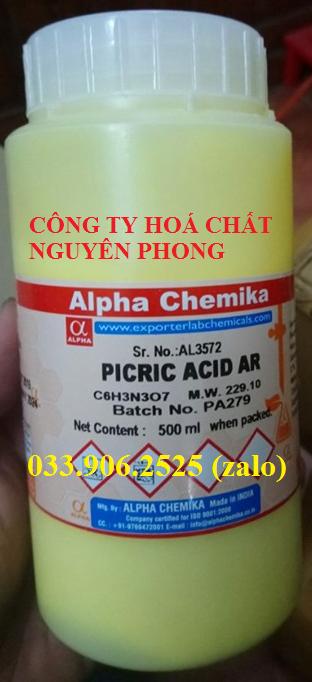 Dung dịch Picric Acid , Alpha Chemika - Ấn Độ , 88-89-1 , C6H3N3O7