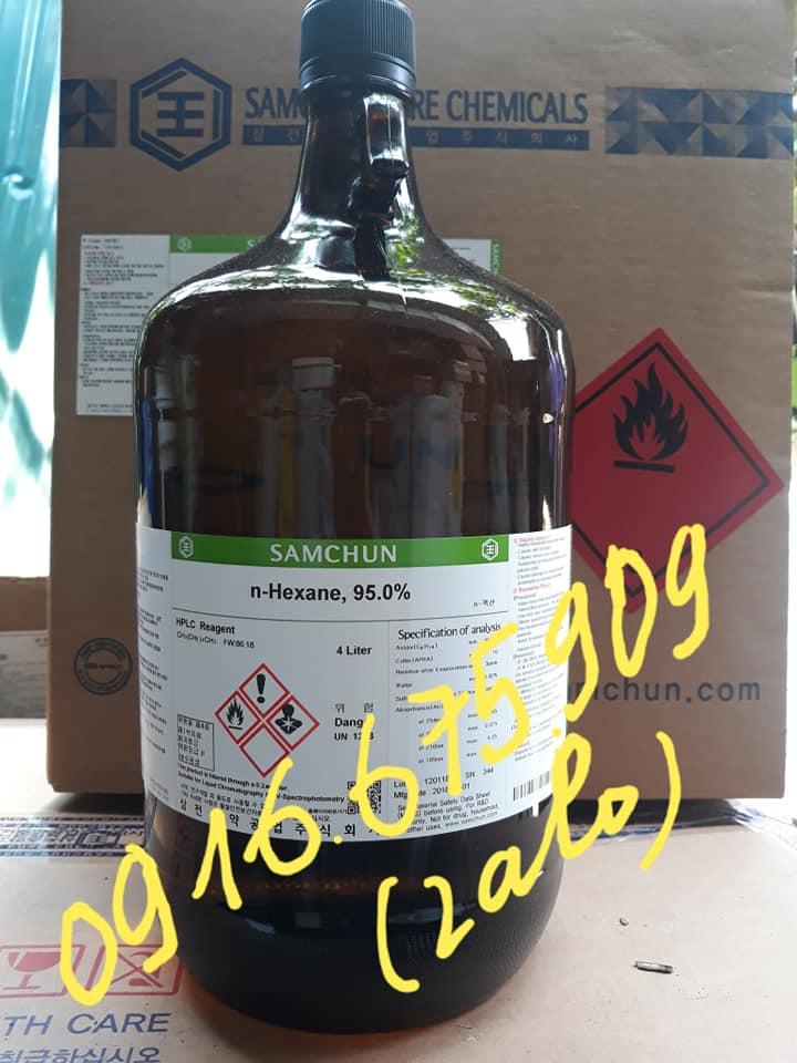Hóa chất Samchun Hàn Quốc n-Hexane, 95.0% HPLC Reagent H0787 CAS 110_54_3 CH3(CH2)4CH3 4 Liter