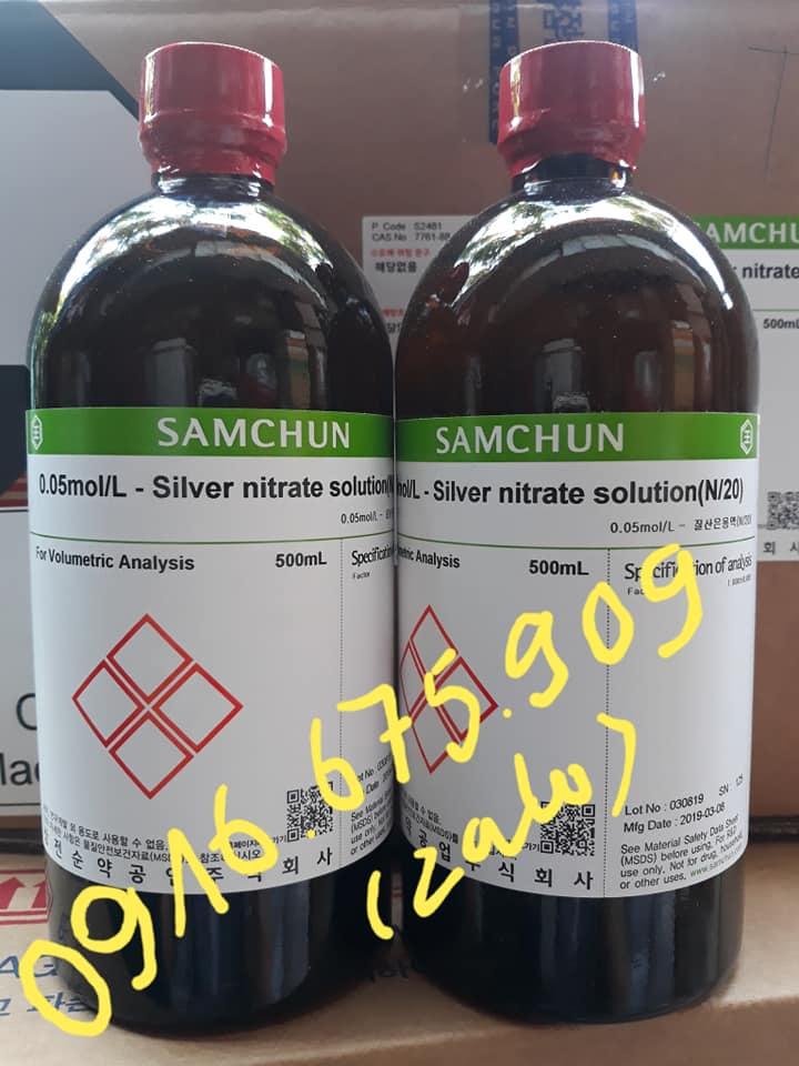 Hóa chất Samchun Hàn Quốc 0.05mol/L - Silver nitrate solution(N/20) S2481 CAS 7761_88_8 500mL