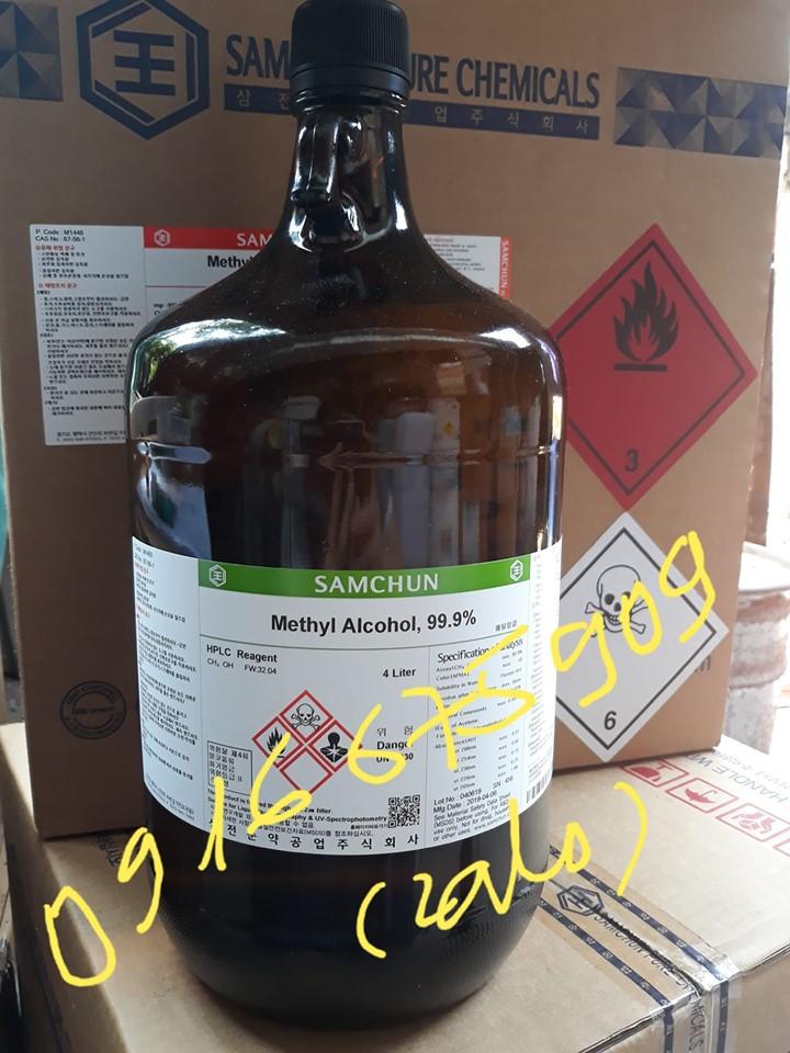 Hóa chất Samchun Hàn Quốc Methyl Alcohol 99.9% M1450 CAS 67_56_1 HPLC Reagent CH3OH 4 Liter