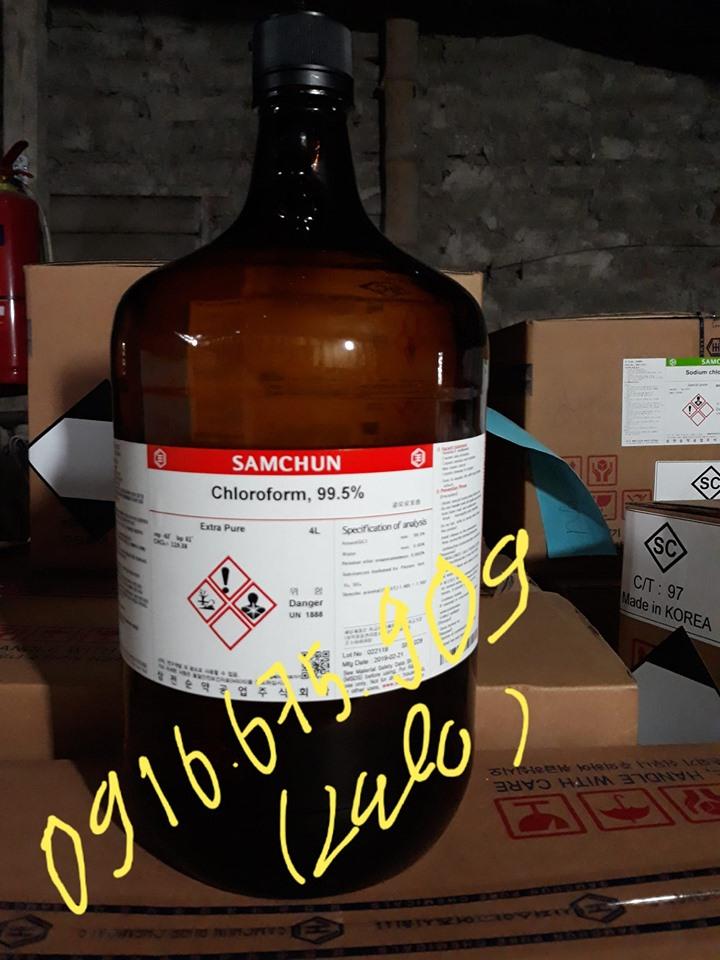 Chloroform, CHCl3, Chai 4L, Samchun Hàn Quốc