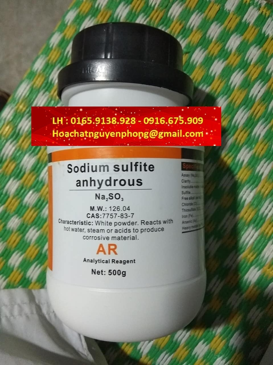 SODIUM SULFITE ANHYDROUS , NATRI SUNFIT , NA2SO3 , XILONG