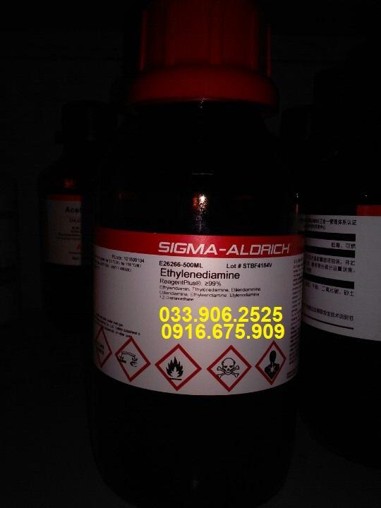 Ethylenediamine ,  NH2CH2CH2NH2 , Sigma Aldrich , Mỹ